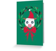 Christmas Poro Wreath Greeting Card