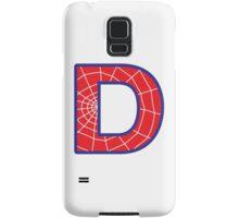 D letter in Spider-Man style Samsung Galaxy Case/Skin