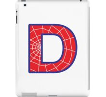 D letter in Spider-Man style iPad Case/Skin