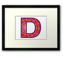 D letter in Spider-Man style Framed Print