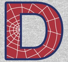 D letter in Spider-Man style Baby Tee