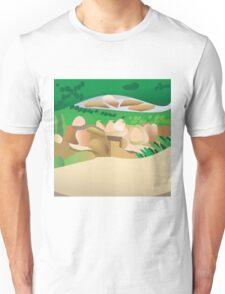Larravide Scenery Tan  Unisex T-Shirt