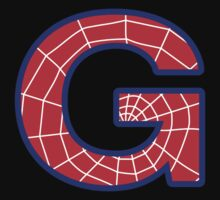 G letter in Spider-Man style Kids Clothes