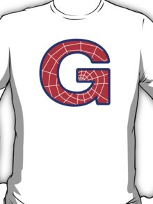 G letter in Spider-Man style T-Shirt