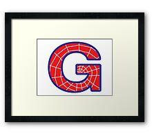 G letter in Spider-Man style Framed Print