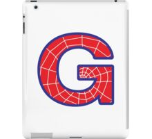G letter in Spider-Man style iPad Case/Skin