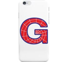 G letter in Spider-Man style iPhone Case/Skin