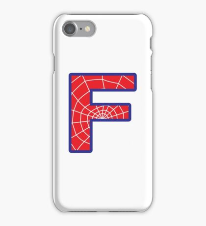 F letter in Spider-Man style iPhone Case/Skin