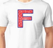 F letter in Spider-Man style Unisex T-Shirt