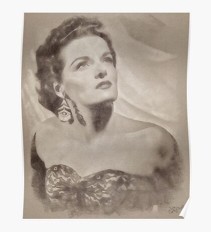 Jane Russell, Vintage Hollywood Actress Poster