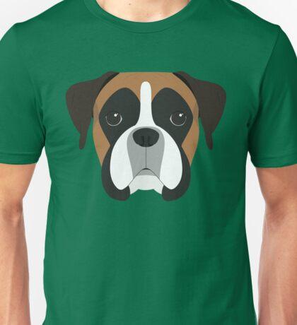 Boxer Dog Portrait Illustration Unisex T-Shirt