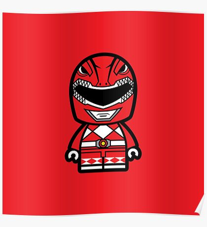 Red Ranger Chibi Lego Poster