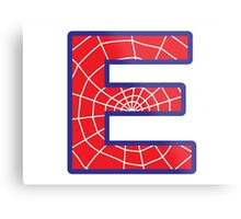 E letter in Spider-Man style Metal Print