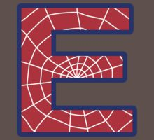 E letter in Spider-Man style One Piece - Short Sleeve