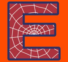 E letter in Spider-Man style Kids Clothes