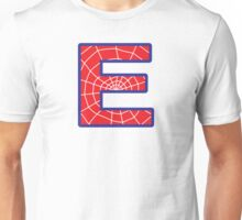 E letter in Spider-Man style Unisex T-Shirt
