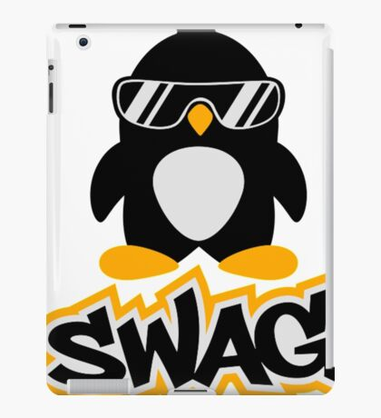 Swag Penguin- penguin shirt iPad Case/Skin