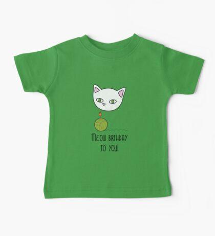 Meow birthday Baby Tee