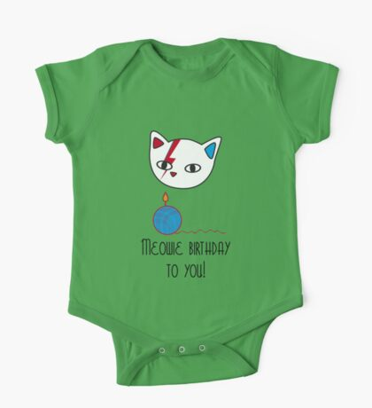 Meowie birthday to you One Piece - Short Sleeve