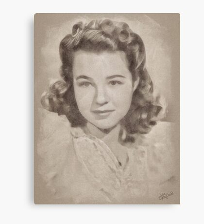 Jane Withers, Vintage Actress Canvas Print
