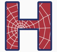 H letter in Spider-Man style Kids Clothes