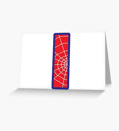I letter in Spider-Man style Greeting Card