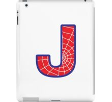 J letter in Spider-Man style iPad Case/Skin