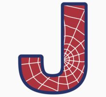 J letter in Spider-Man style One Piece - Short Sleeve