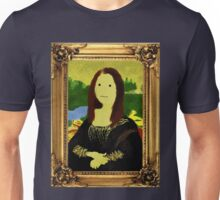 Mona Lisa in Golden Frame Unisex T-Shirt