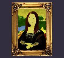 Mona Lisa in Golden Frame Unisex T-Shirt