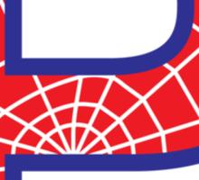 P letter in Spider-Man style Sticker