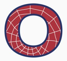 O letter in Spider-Man style by Stock Image Folio
