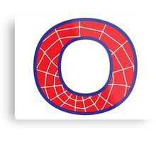 O letter in Spider-Man style Metal Print