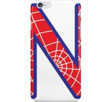 N letter in Spider-Man style iPhone Case/Skin