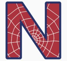 N letter in Spider-Man style Kids Clothes