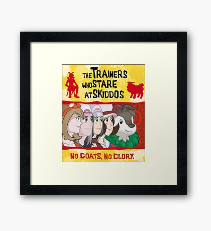 The Trainers Who Stare At Skiddos III Framed Print