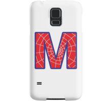M letter in Spider-Man style Samsung Galaxy Case/Skin