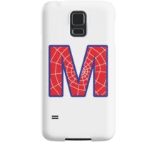 M letter in Spider-Man style Samsung Galaxy Case/Skin