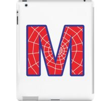 M letter in Spider-Man style iPad Case/Skin