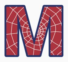 M letter in Spider-Man style Kids Clothes