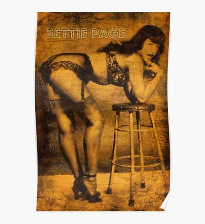 Bettie Page, Pin Up Artist Poster