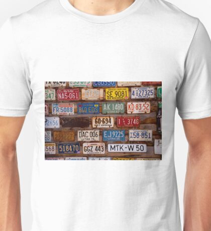 Licence Plate Wall Unisex T-Shirt