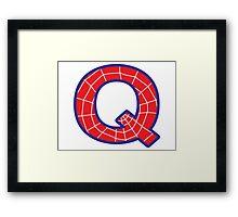 Q letter in Spider-Man style Framed Print