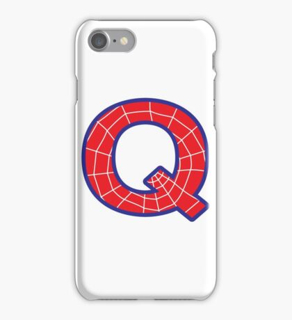 Q letter in Spider-Man style iPhone Case/Skin