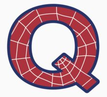 Q letter in Spider-Man style by Stock Image Folio