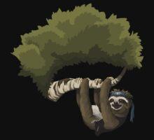 Glitch Inhabitants Metal Sloth In Tree by wetdryvac