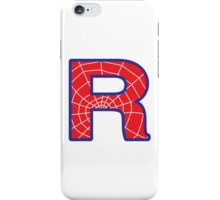 R letter in Spider-Man style iPhone Case/Skin