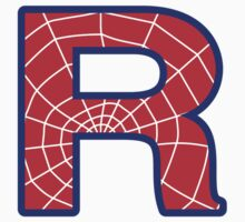 R letter in Spider-Man style Kids Clothes