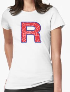 R letter in Spider-Man style Womens Fitted T-Shirt
