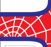 R letter in Spider-Man style Sticker